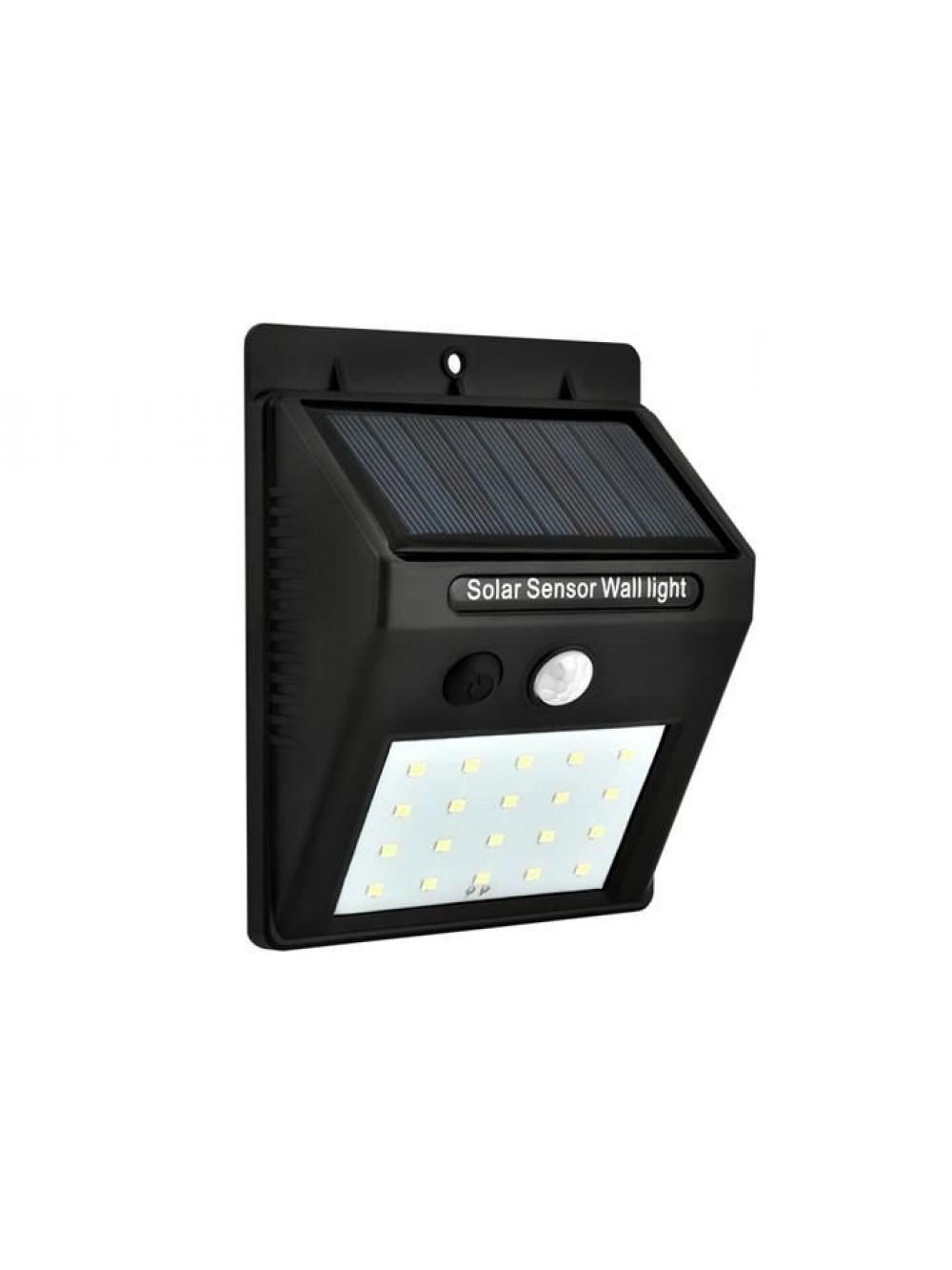 Ηλιακή λάμπα τοίχου 20 LED με αισθητήρα κίνησης