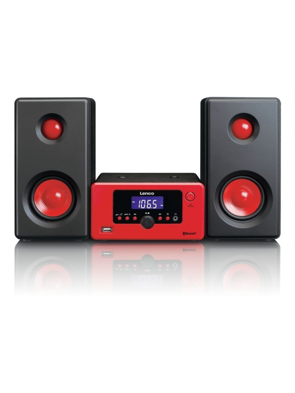 Lenco MC-020 Microset μουσικό σύστημα με επιλογές Bluetooth,FM ράδιο,USB,AUX-IN και ξυπνητήρι