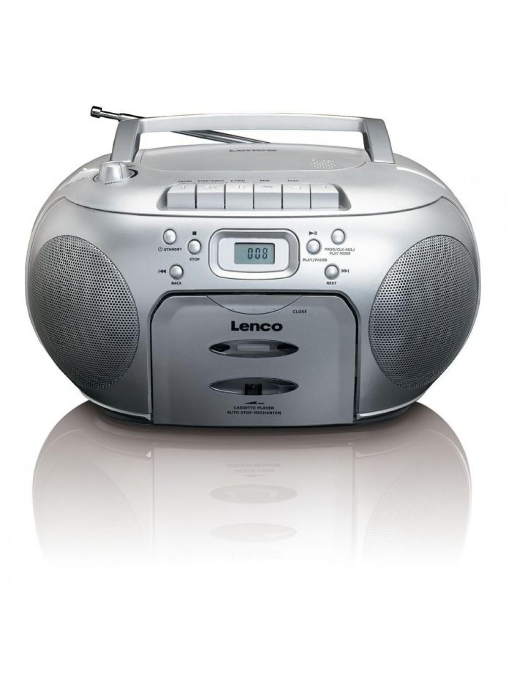 Lenco SCD-420SI φορητό FM ράδιο-cd/cassette player