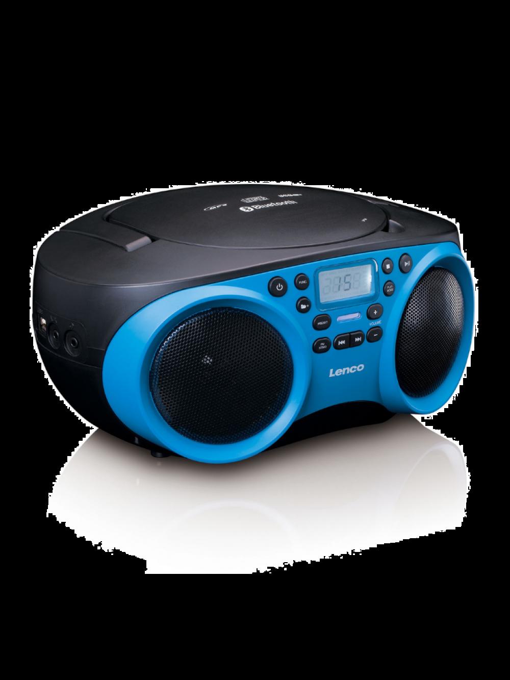Lenco SCD-501BU φορητό ράδιο-cd player με επιλογές CD,MP3,USB,BT και AUX-IN